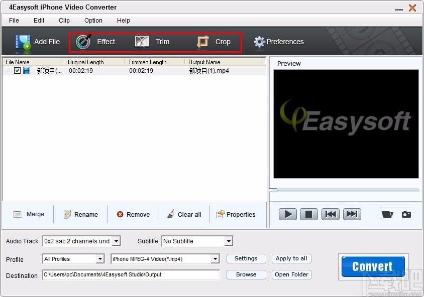 4Easysoft iPhone Video Converter(iPhone視頻格式轉換器)