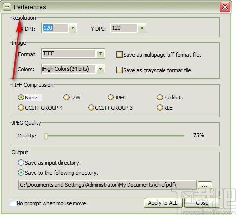 ChiefPDF PDF to Tiff Converter(PDF轉TIFF轉換器)
