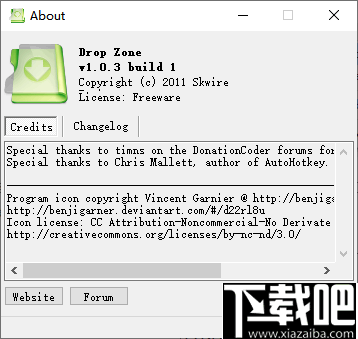 Drop Zone(拖放文件復制或移動工具)