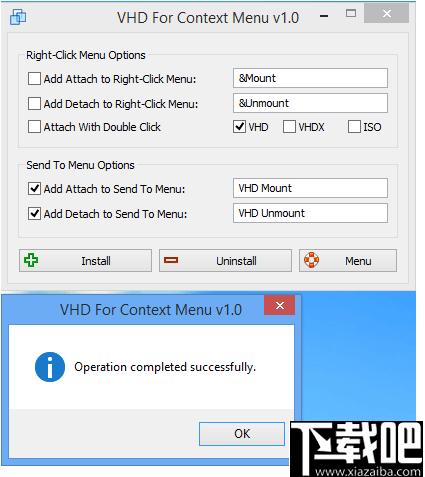VHD右鍵菜單(VHD For Context Menu)